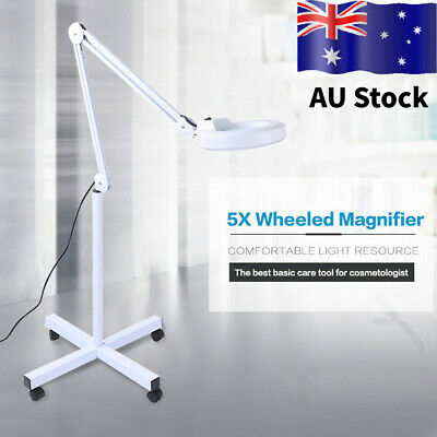 5x Magnifying Lamp Glass Lens Beauty LED Illuminated Magnifier Stand Light AU