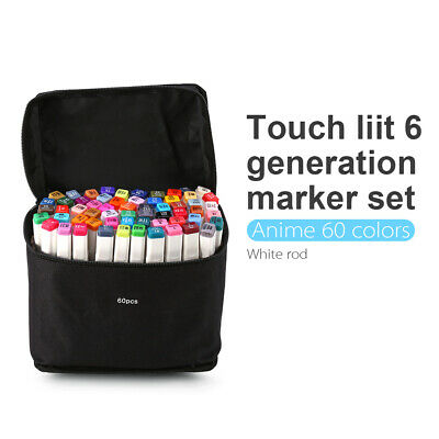 Marker Pen 60 Color Set Graphic Art Sketch Twin Point Broad Point Copic Touch AU