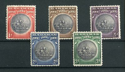 Bahamas KGV 1930 Tercentenary set of 5 SG126/30 mint hinged