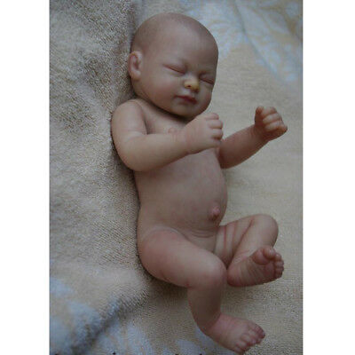 """Real Touch 10"""" Reborn Kits Silicone Newborn Baby Girl Doll & Plush Blanket"""