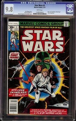 Star Wars # 1 CGC 9.8 White (Marvel 1977) 1st appearance of Star Wars characters