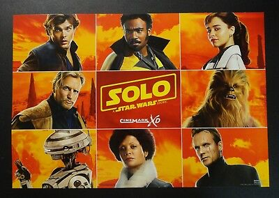"""Cinemark XD Theater 19"""" Promo Movie Poster SOLO A Star Wars Story Chewie Lando +"""