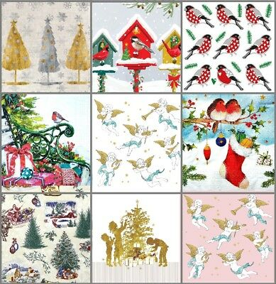 Pack of 20  Lunch Table  Paper Napkins Party Decoupage Christmas Xmas Mix  3