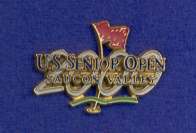 2000 Saucon Valley Pennsylvania U.S. Senior Open Golf Media Press ? Badge Pin z3