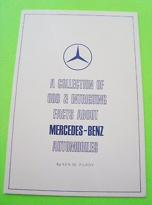 1961 ODD & INTRIGUING FACTS ABOUT MERCEDES BENZ AUTOMOBILES Purdy w/ ENVL Mint
