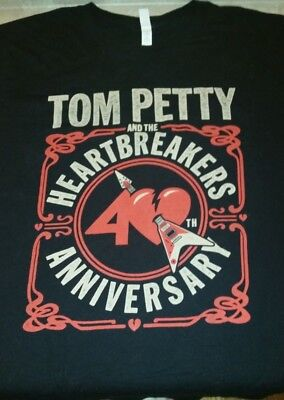 Tom Petty 2017 Official 40th Anniversary Concert T Shirt from the Atlanta Show!