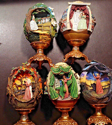 Franklin Mint Collectible Egg Lot 5 Gone With The Wind Scarlett's Vow - Outrage