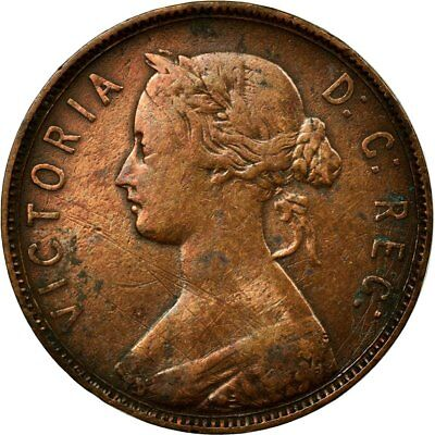 [#680108] Coin, NEWFOUNDLAND, Large Cent, 1876, Royal Canadian Mint, EF(40-45)