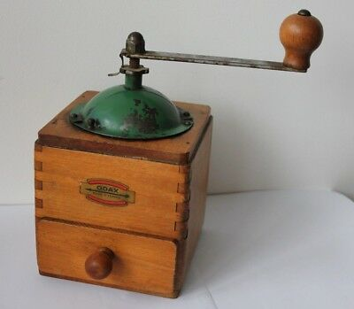 French ODAX Wood Coffee Grinder Fully Working.