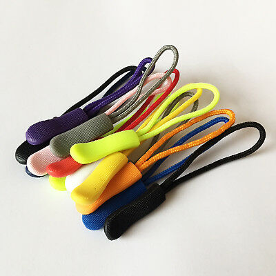 Zip Pull Zipper Puller Cord Slider Fastener Jacket Bag Backpack Replacement