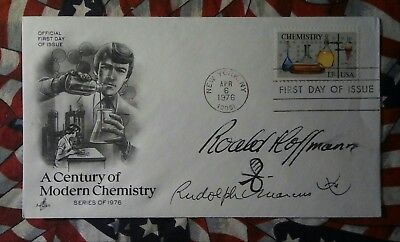 First Day Cover Chemistry Stamp Signed Roald Hoffman  Rudolph Marcus Nobel Prize