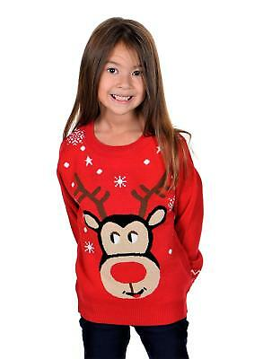 KESIS Children Happy Rudolph Ugly Christmas Sweater