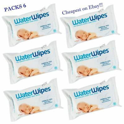 6 Packs WaterWipes Natural Baby Nappy For Sensitive Skin ( 360 Wipes)