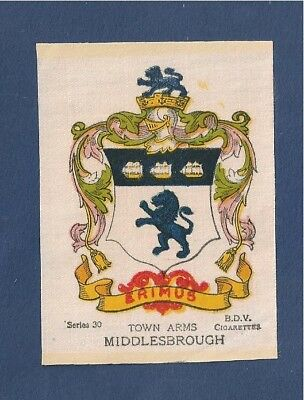 MIDDLESBROUGH TOWN Coat of Arms  1918 beautifully printed on silk
