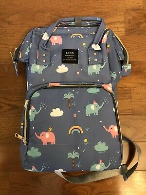 Land Baby Diaper Bag Large Capacity Mommy Backpack Nappy Tote Bag Elephants