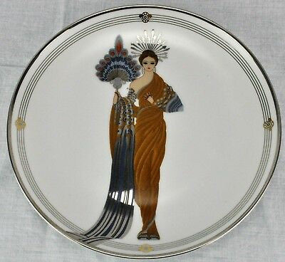"House of Erte' by Franklin Mint ""ATHENA""  Fine Porcelain Plate (BI#MK/180422)"