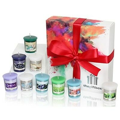 An Exclusive Luxury Gift Set Containing Nine Fruity and Floral Scented Candles