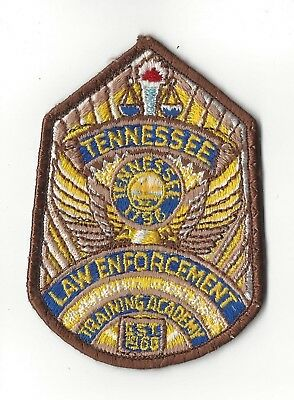 TN Tennessee Law Enforcement Training Academy *brown border* patch - NEW!