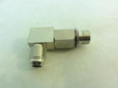 168250 New-No Box, Nordson 972646A Connector Assembly, 90 DEG, 9/16-18 x 9/16-18