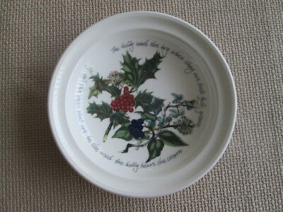 "Portmeirion Holly & The Ivy Rimmed  Dish 8.5"" Wide     New"
