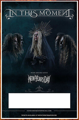 IN THIS MOMENT 2018 Tour Ltd Ed RARE Poster +FREE Metal Poster! NEW YEAR'S DAY