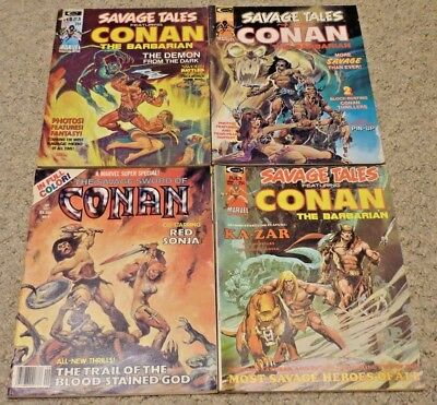 Savage Tales featuring Conan #3, 4 & 5 | Great Condition | Curtis