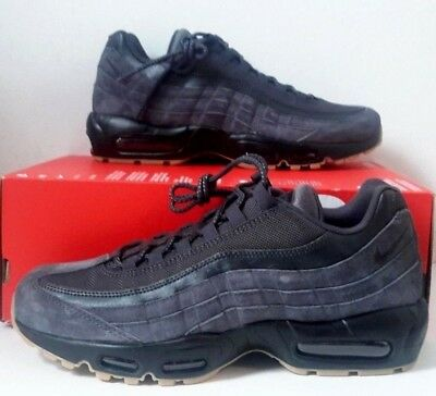NIKE AIR MAX 95 SE ANTHRACITE BLACK GUM BROWN Mens SZ 10 (AJ2018 002) NEW