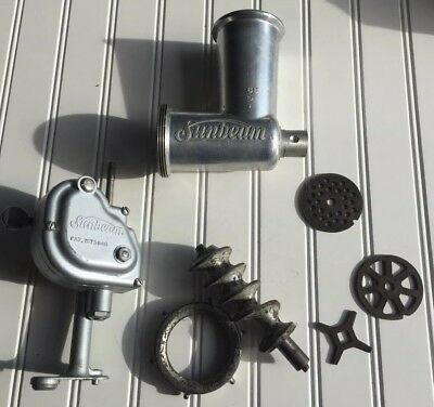 Vintage Sunbeam Mixmaster mixer meat grinder attachment & Power Transfer Unit