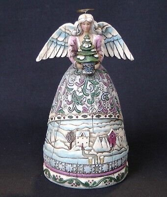 "Jim Shore Figurine Angel With Tree ""Landscape Sleeps"", Pre-Owned"