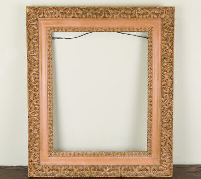 Antique Victorian Lg compo stacked frame nice ornament in Pink! FR9
