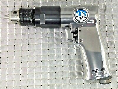 "Air Drill 3/8"" Reversible Variable Speed Pneumatic 1800RPM Pistol Grip"