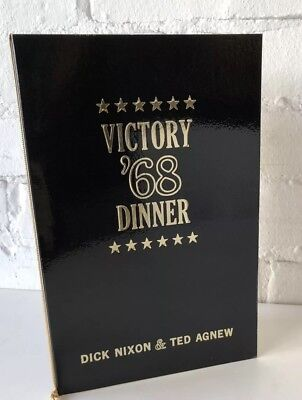 Vtg Nixon 1968 VICTORY DINNER Program & Sponsors political advertising CHICAGO