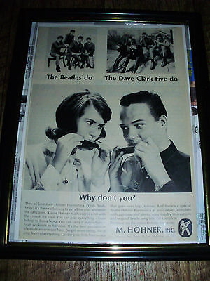 The Beatles Authentic 1964 Magazine Advertisement For Hohner Harmonica Sealed