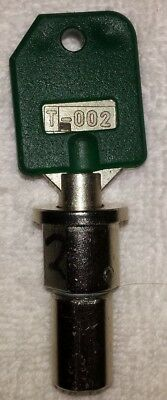 Lock + Green Key T-002 NOT for 1-800 Vending Machine, NOT for SSF Machines
