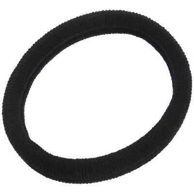 4X(Lady Girls Black Nylon Wrapped Stretchy Rubber Hair Ties Bands 20PCS X2A7)