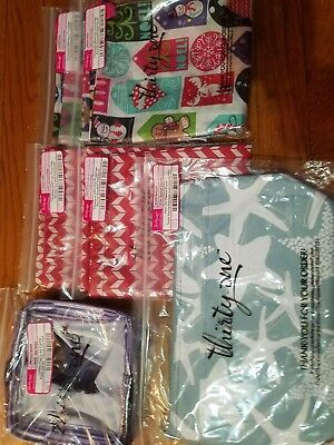 Thirty one bag  Zipper Pouch memory pouches littles carry all caddy  new lot set