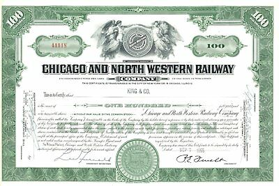 1955 C&NW - Chicago & North Western Railroad common stock certificate