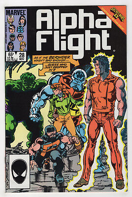 Alpha Flight #28 (1985) Choose One [Newsstand or Direct] Secret Wars 2, Hulk