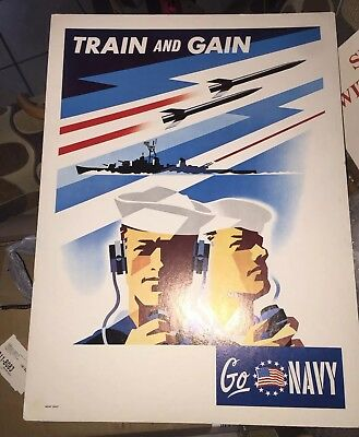 Recruitment Poster  Navy. Very Rare Lot Of 2