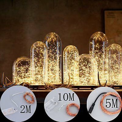 2/5/10M 20/50/100LED Copper Wire Fairy String Light Xmas Waterproof  PM