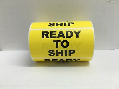 """Yellow READY TO SHIP Shipping Special Handling Labels (4"""" x 2"""", 500/Roll)"""