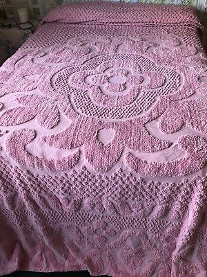 Dusty Rose Chenille Bedspread