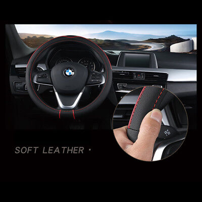 38cm 15inch car steering wheel cover stitching pu leather universal38cm 15inch car steering wheel cover stitching pu leather universal red