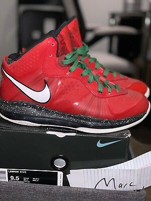 quality design f9a37 55425 Nike LeBron VIII 8 V 2 Christmas (429676-600)Red Black White