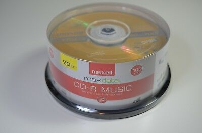 Maxell 625335 CD-R Music Discs 30 Count, 80 min; 700 MB