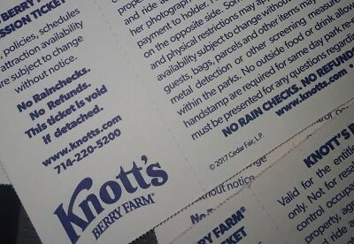 4 Knotts Berry Farm southern california 1 day amusment park ticket youth adult