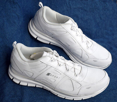 NEW S Sport by Skechers Women's Performance Shoes Size 6, 8, 10 White Sneakers