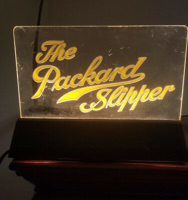Rare 1900's THE PACKARD SHOE (LIGHT UP)  Prototype Lucite Sign