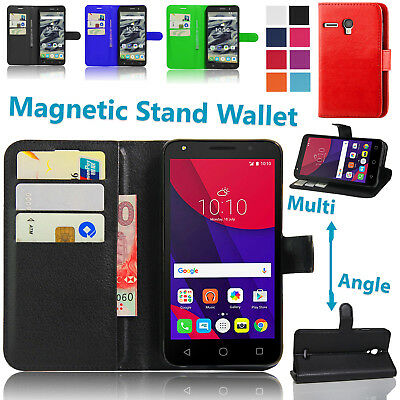 "Shockproof Wallet Stand Case For Alcatel Pixi 4 4"" 3G 4 5"" Inch Flip Phone Cover"