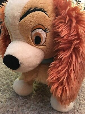"Large Jumbo 21"" PLUSH Lady and the TRAMP Disney Store Exclusive"